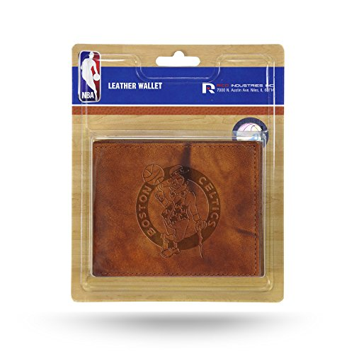 NBA Boston Celtics Embossed Leather Billfold Wallet with Man Made Interior ()