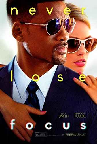 FOCUS Original Movie Poster 27x40 - DS - WILL SMITH - MARGOT - Focus Smith