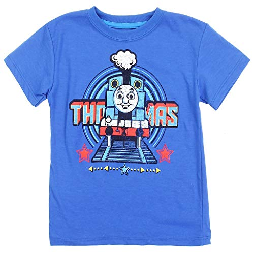 Thomas and Friends Little Boys' Toddler Distressed Graphic Tee (2T) Blue
