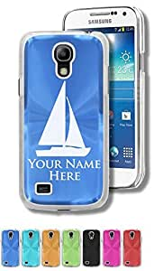 Personalized Case/Cover for Samsung Galaxy S4 Mini - SAILBOAT - Engraved for FREE