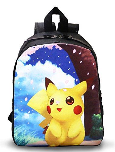 BSBL-La-bolsa-de-Pokemon-Pikachu-Mochila-morral-de-la-felpa-para-los-nios-de-la-escuela-del-nio-de-21-9-23cm