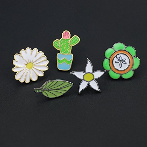 (Cliff) fresh green brooch Deparent of sunflowers daisies Wildflowers animation enamel brooch collar pin badge Europe (Wildflower Brooch)