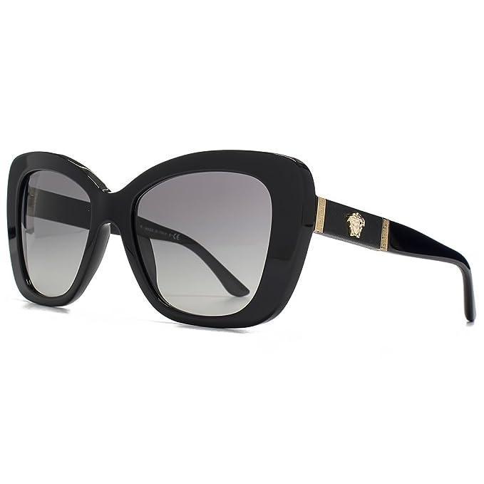Gafas de sol Versace logotipo de Medusa de mecánico en negro ...