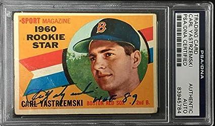 Carl Yastrzemski Signed Hof 89 1960 Topps 148 Rc Rookie