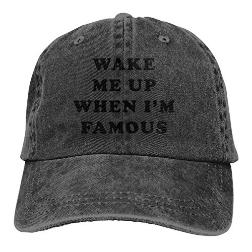 Wake Me Up When I'm Famous Adjustable Cowboy Caps Dad Baseball Hat for Men's -