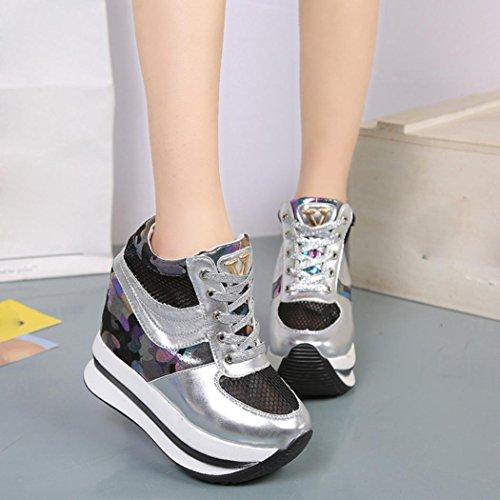 Malloom® Frauen Schuhe Höhe Erhöhung Casual Schuhe Plattform Loafer Single Schuhe schwarz