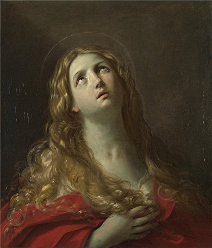 Mary I Of England Costume (high quality polyster Canvas ,the High quality Art Decorative Prints on Canvas of oil painting 'Guido Reni Saint Mary Magdalene ', 20 x 23 inch / 51 x 59 cm is best for Bathroom decoration and Home decoration and Gifts)