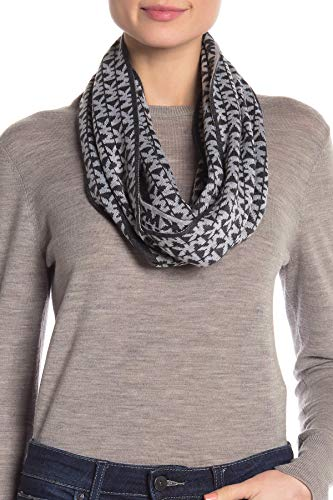 Michael Kors Mens Womens Collection Logo Knitted Long Scarf Muffler Grey
