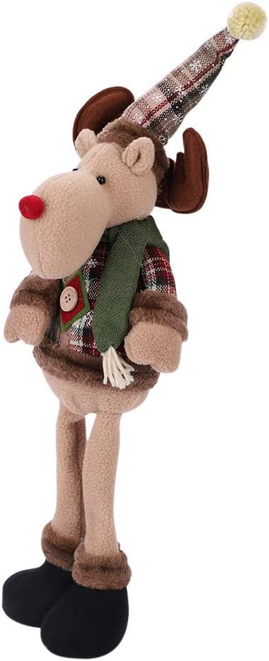 Christmas Decorations Reindeer Plush Toy Figurines Bendable Leg Standing Sitting Doll Xmas Christmas Home Ornament Party Table Christmas Decor Xmas Tree Hanging Decor Elk Snowman Home Indoor Table