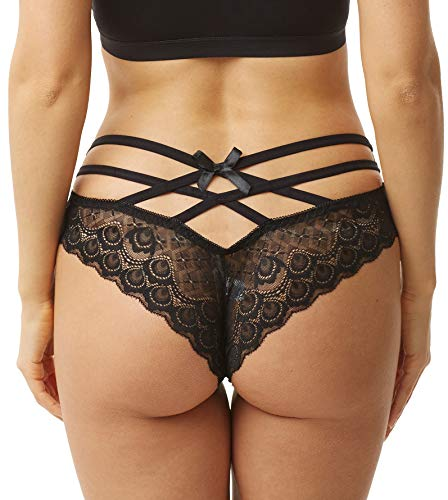 Sofishie Sexy Strappy Lace Panties - Black - ()