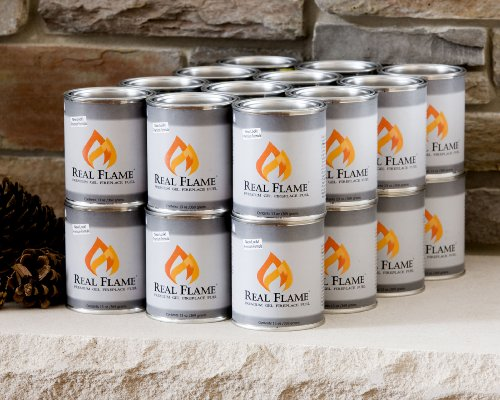 Traditional Gel Fuel Fireplace - 13 Oz. Gel Fuel Size: 16 Cans