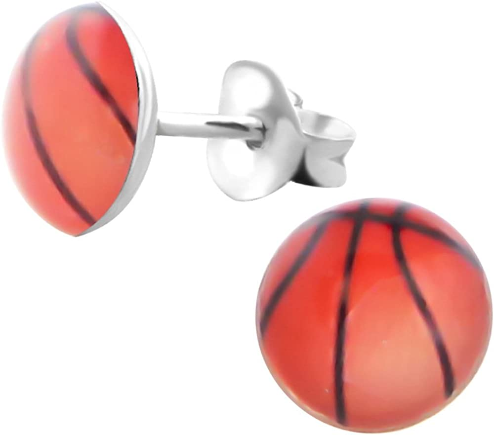 Laimons Kids Pendientes para niña Disco con diseño de pelota de ...