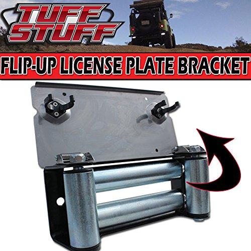 Tuff Stuff Stainless Steel Flip-up Winch Roller Fairlead License Plate Bracket Mount