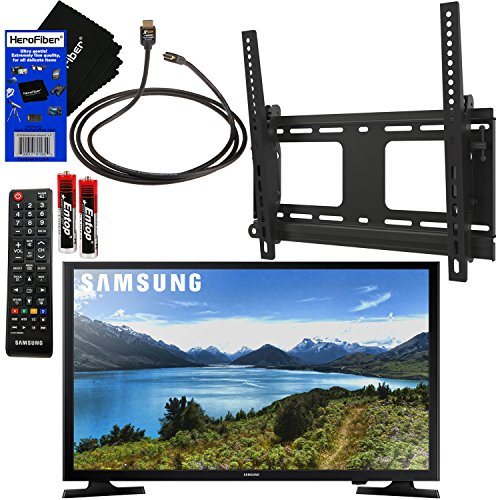 "Samsung Electronics UN32J4001 32"" Class 720p HD LED TV + Fotolux TV Wall Mount Tilting Bracket + Remote Control + Xtech High-Speed HDMI Cable w/Ethernet + HeroFiber Ultra Gentle Cleaning Cloth"