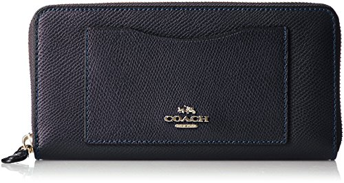 Coach Crossgrain Leather Accordion Zip Wallet in Midnight - F54007 IMMID by Coach