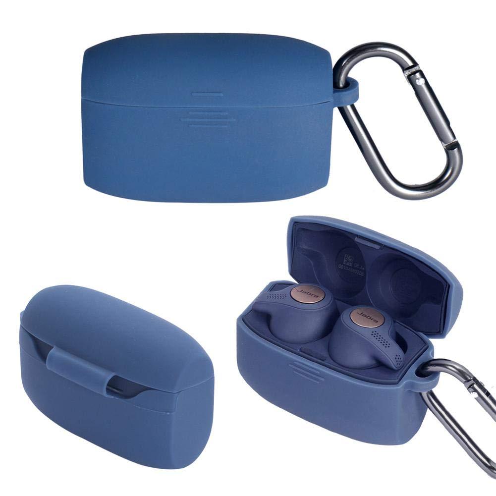 Precauti Funda Protectora de Silicona para Auriculares Bluetooth para Auriculares Jabra Elite 65 65T