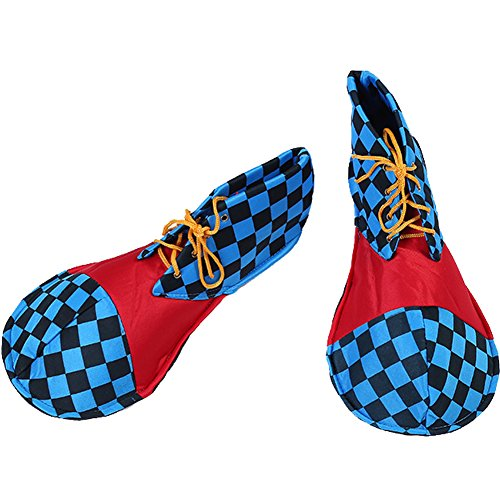 Anime Adult Shoes - Honeystore Unisex Adult Jumbo Large Clown Shoes Halloween Costumes Accessories Dark Blue