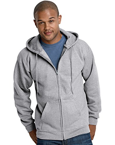 Cotton Fleece Oxfords - Hanes F280 Ultimate Cotton Fleece Full-Zip Adult Hoodie Size 3XL, Oxford Grey