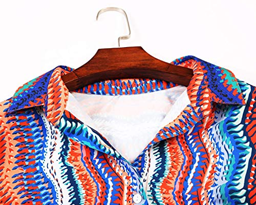 Top Aranmei Longue Manche Multicolore XXL Mode V Chemisier Multicolore S Blouse Femme Col qqgxzZwrH