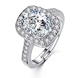 Platinum Plated Swarovski Crystal Rings for Women