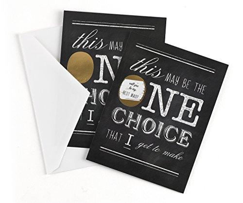 Hortense B. Hewitt 54843 Wedding Accessories Scratch Off Card, One Choice-Best - Card Gift Men Best For