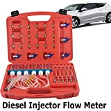 Zinnor Diesel Injector Flow Diagnostic Cylinder Common Rail Adaptor Test Tool Kit Meter set Fuel Pressure Testers