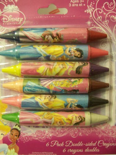 Disney Princess Set of 6 Double-Sided Crayons (Double Sided Crayons)