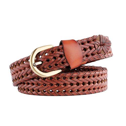 JASGOOD Fashion Braided Leather Copper