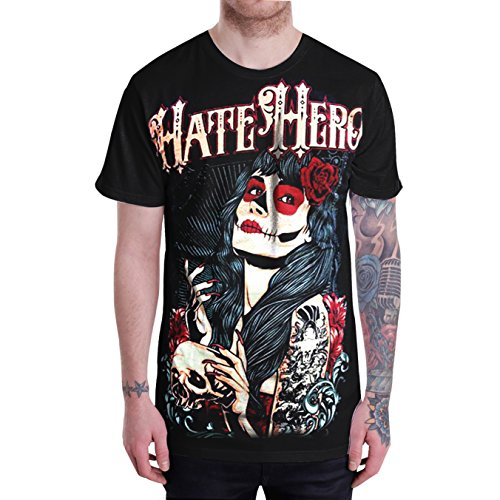 Sullen Ladies Tattoo Hipster Street Mens Black T-Shirt Short Sleeve (Medium)