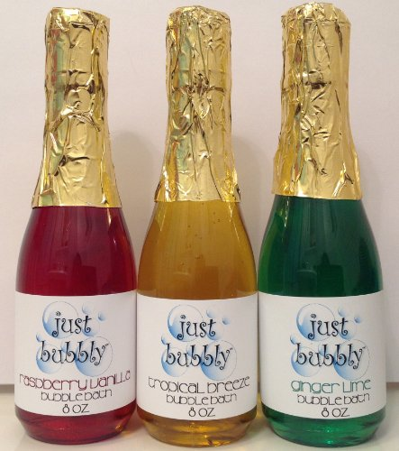 Holiday Champagne Bubble Bath - Handcrafted in the USA Package of Three -