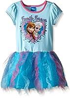 Disney Girls' Frozen Elsa Short Sleeve Tutu Dress
