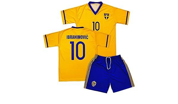 Suecia Equipo de fútbol Uniforme-conjunto de réplicas ...