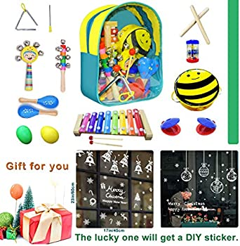 CACA Kid's Musical Instrument Toy Kit