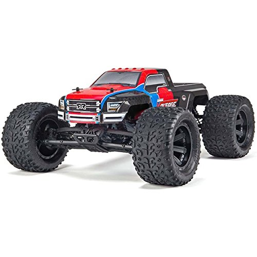 Rtr Electric Stadium Truck - ARRMA GRANITE VOLTAGE MEGA 2WD Electric RC RTR Remote Control SRS Monster Truck with 2.4GHz Radio, Battery (x2), and Charger, 1:10 Scale (Red/Black)