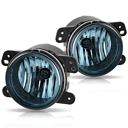 (Fog Lights For Chrysler 300 Chrysler 300 3.5L Touring 2005-2010 PT Cruiser 2006-2009 Dodge Magnum 2005-2008 Journey 2009-2010 Jeep Wrangler 2007-2011 (OE Style Smoke Lens w/Bulbs) ATFL012W)