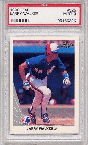 1990 Leaf Larry Walker Rookie Montreal Expos #325 PSA 9 MINT (Graded Baseball Cards) (Larry Walker 1990 Leaf)