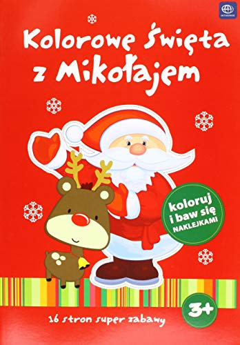 (Interdruk MAA4KS Coloring Book A4 16 with Stickers Winter Time (2 Designs: The Snowman and The Santa Claus),)