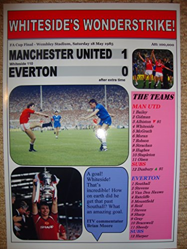Manchester United 1 Everton 0 - 1985 FA Cup final - souvenir ()