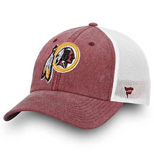 Fanatics Branded Washington Redskins Timeless Fundamental Adjustable Trucker Hat – Burgundy/White (One Size) from Football Fanatics