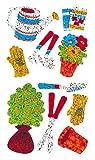 Bulk Roll Prismatic Stickers, Mini Garden (50 Repeats)