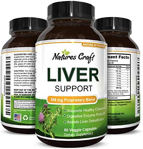 Milk Thistle Liver Support Supplement for Detox Antioxidant Benefits Digestive System Support Metabolism and Immune System Booster Turmeric Benefits Zinc Dandelion Root Artichoke Extract