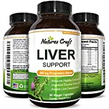Pure Liver Support Milk Thistle + Dandelion Root + Artichoke for Men & Women – Natural Supplements Detox Cleanse for Liver Care – Antioxidant Vitamins Boost Immune System & Metabolism – Natures Craft