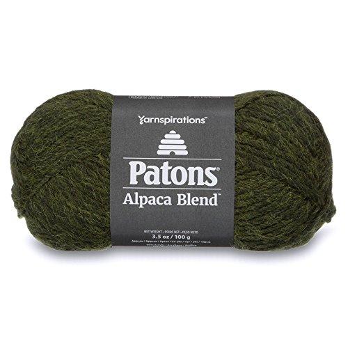 Patons  Alpaca Blend Yarn - (5) Bulky Gauge  - 3.5oz -  Pine -  Machine Washable  For Crochet, Knitting & - Wool Alpaca Knitting Yarn