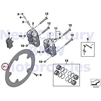 Amazon Com Bmw Genuine Motorcycle Rear Wheel Brake O Ring 11 3x2 2