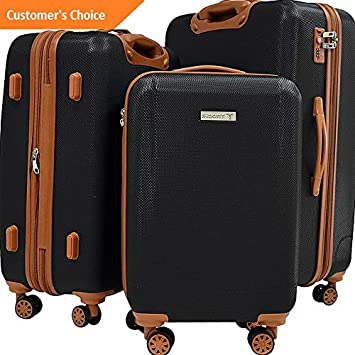 Amazon.com | Sandover Trochi Lux-Tex 3 Piece Hardside Spinner gage Set | Model LGGG - 1491 | | Luggage Sets