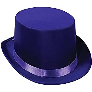Satin Sleek Top Hat (purple) Party Accessory  (1 count)