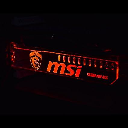 Emperors Magic Universal Acrylic GPU Brace Graphics Card Bracket with RGB LED lights MSI