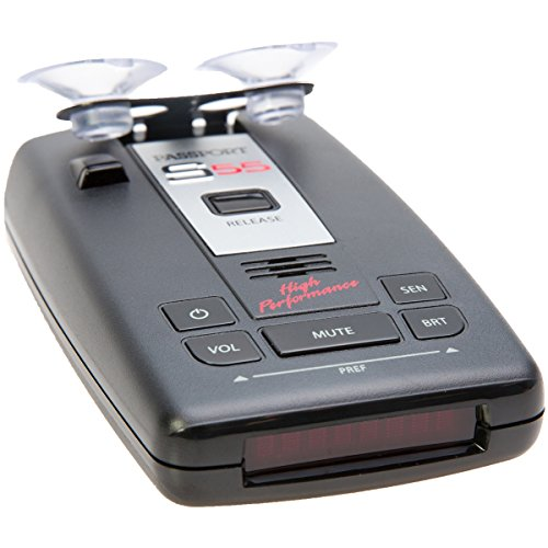 Escort Passport S55 High Performance Pro Radar and Laser Detector with DSP (High-Intensity Red Display) by Escort
