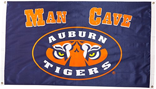 (NCAA Auburn Tigers Man Cave Flag with 4 Grommets (3 x 5-Feet))