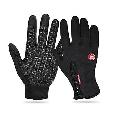 Greatstar Cycling Gloves, Waterproof Touchscreen in Winter Full Finger Outdoor Bike Women Men Gloves Adjustable Size